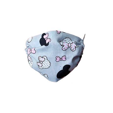 Maseczka ochronna bawełniana dla dzieci – Myszki z różowymi kokardkami