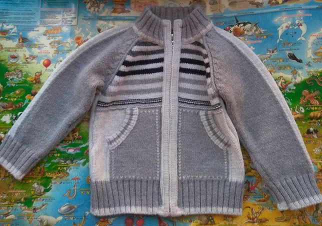 Тёплая, зимняя, детская кофта