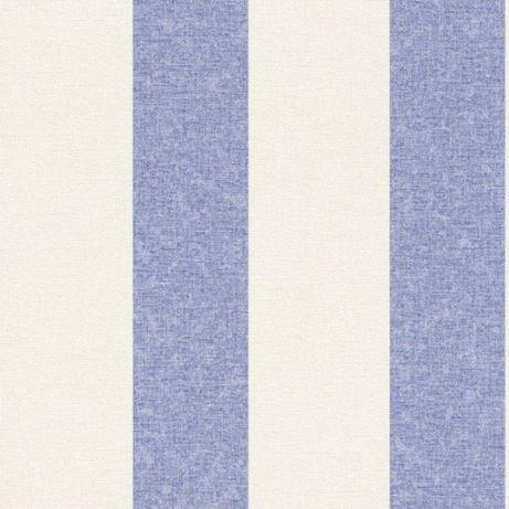 Tapeta rasch 448719 flizelina,piękne pasy niebieskie