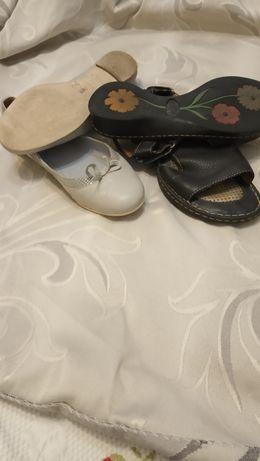 Фирменные кожаные босоножки балетки туфли