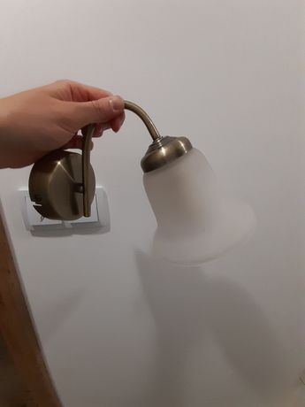 Lampa z kinkiet z mlecznego szkla