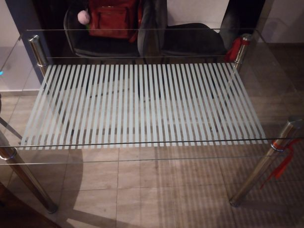 Stół szklany 70x120cm