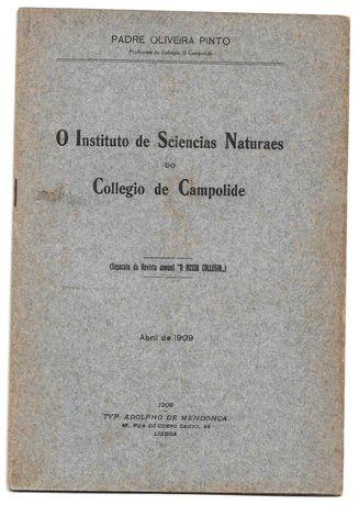 Livro-O Instituto de Sciencias Naturaes do Collegio de Campolide-1909
