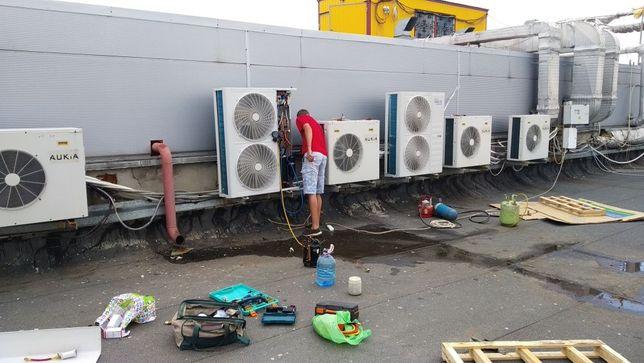 Профессиональная установка кондиционеров, демонтаж, чистка, ремонт!