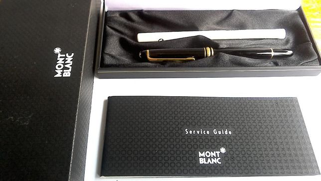 Esferografica MONT BLANC com CLIP e Aneis em Ouro Nova e Embalagem de