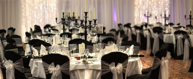 Dekoracja sali weselnej pokrowce na krzesla 100% profesjonalna usluga