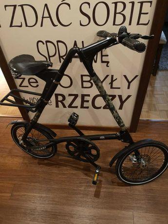 rower miejski, rower składany Strida SX czarny, specjalna edycja