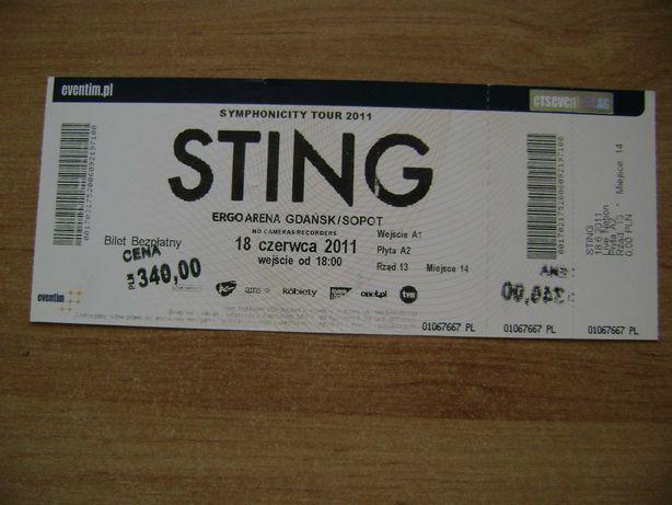 Starocie z PRL Bilet na koncert STINGA ERGO ARENA Gdańsk 18.06.2011r.