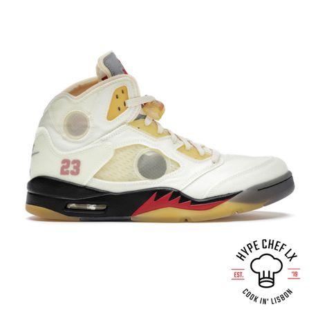 Nike Air Jordan 5 Retro x OFF-WHITE Sail - 44 & 45 EU / 10 US & 11 US