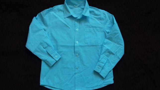 Niebieska koszula w paski rozm. 122 Tanio!