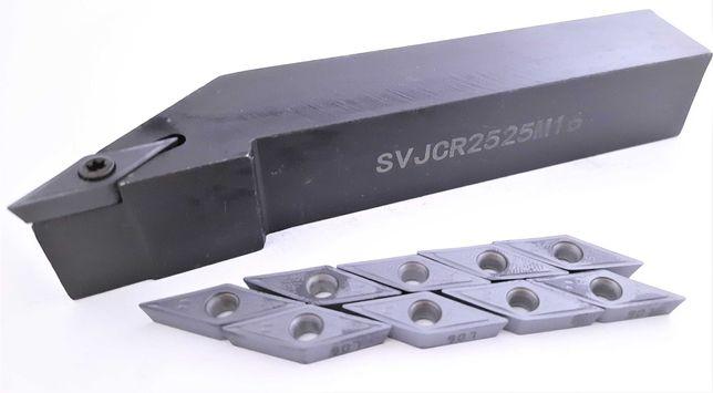 Nóż tokarski SVJCR 2525 M16 + 10 PŁYTEK VCMT 16