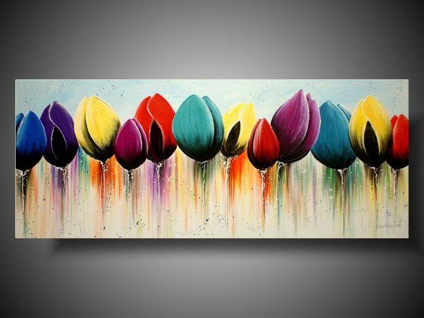 Obraz tulipany 120 na 50