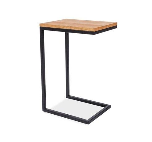 Stolik typu C , stoliki kawowe, stal , blat, drewno