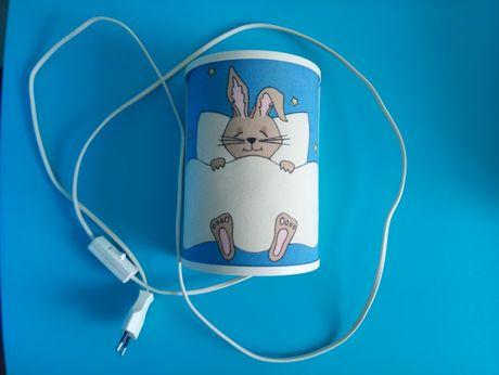 Kinkiet / lampka nocna dziecięca z króliczkiem
