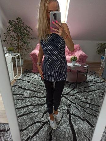 Granatowa bluzka ciążowa w groszki Esmara L/XL