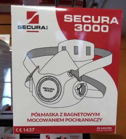 Maska silikonowa Secura 3000 wielokrotnego użycia do oprysków