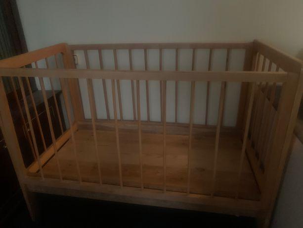 Дитяче ліжко з липи, ортопедичний матрас та постіл набори