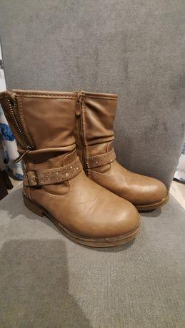 Buty zimowe dziewczęce, kozaki rozmiar 32