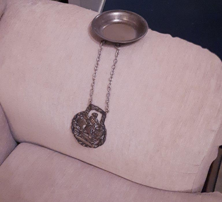 1 Cinzeiro/Taça decorativa-Vintage-em casquinha-banho de prata Algés, Linda-A-Velha E Cruz Quebrada-Dafundo - imagem 1