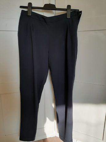 Eleganckie spodnie na kant granatowe cygaretki ORSAY