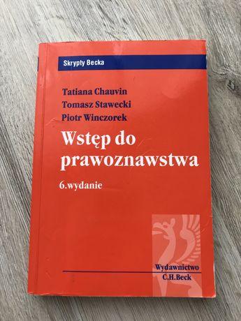 Książka Wstęp do prawoznawstwa T. Chauvin T. Stawecki P. Winczorek