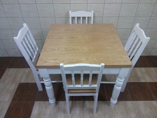 krzesła stół kwadratowy 80x80 2 x 45 wkładki do salonu kuchni jadalni