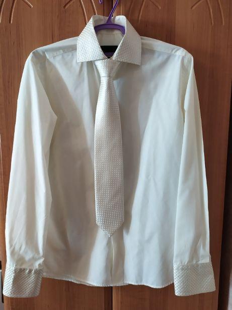 Белая рубашка с галстуком (в описание весь костюм)