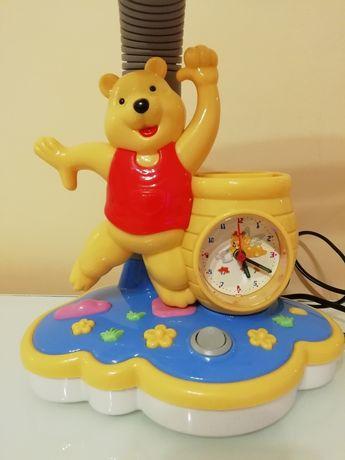Lampka nocna Kubuś Puchatek, Lampka i zegar, lampka dla dzieci