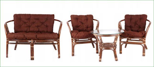 Zestaw mebli rattanowych rattan HiT ogrodowe TARASOWE stół krzesła