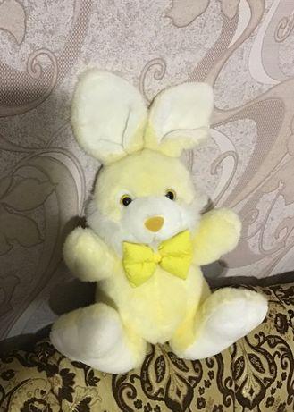 Зайчик заяц великий жовтий мяка плюшева іграшка Jade soft toys
