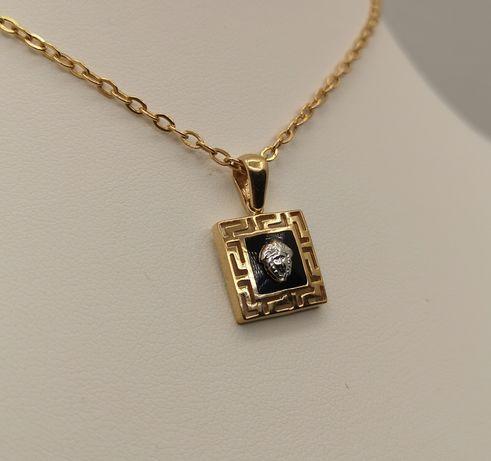 Piękna złota zawieszka. Versace . Złoto pr. 585. Super na prezent