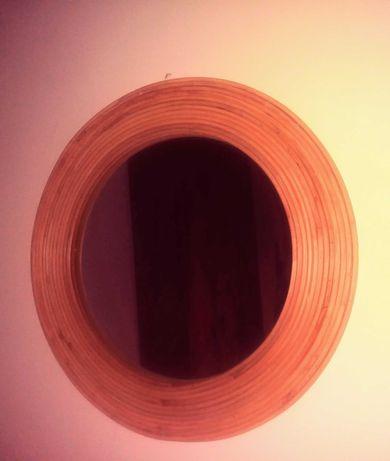 Espelho redondo ratan/ palhinha/verga