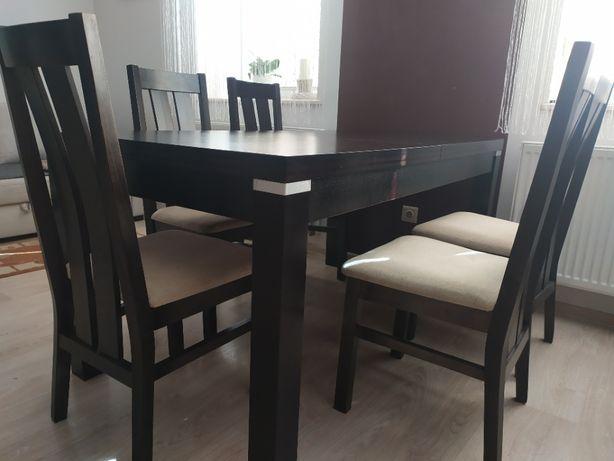 Stół drewniany + 6 krzeseł