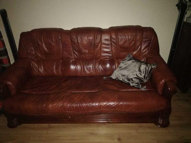Sofa + 2 fotele skórzane