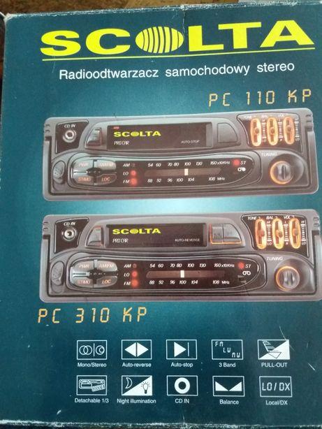 Radioodtwarzacz samochodowy.