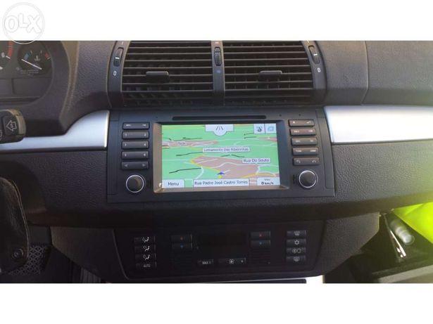 Auto rádio android bmw e39 X5 e53 m5 série 5 gps dvd bluetooth usb
