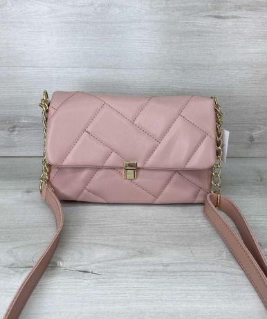 Женская розовая сумка кроссбоди