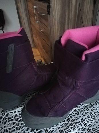 Buty turystyczne wysokie - SH100 X-Warm - dla dzieci