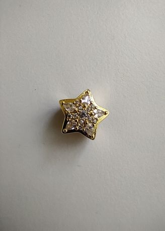 Charms zawieszka złota gwiazda cyrkonie do Pandora srebro 925