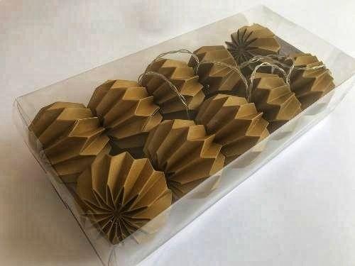 Гирлянда Decorino Dark Gold Paper Balls 10led, диам 7.5см, длина 235см