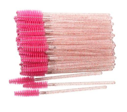 Набор одноразовых щеточек для ресниц и бровей 50 шт