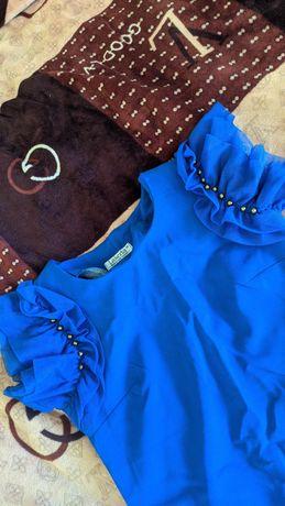 Жіноче плаття трапеція .42 - 46.Синього кольору .Платье женское