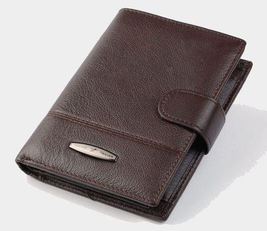 Мужской кошелек для документов Tailian T0227D black натуральная кожа.