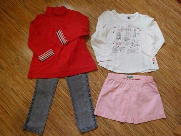 Lote Camisolas + calças + saia, 2-3 anos