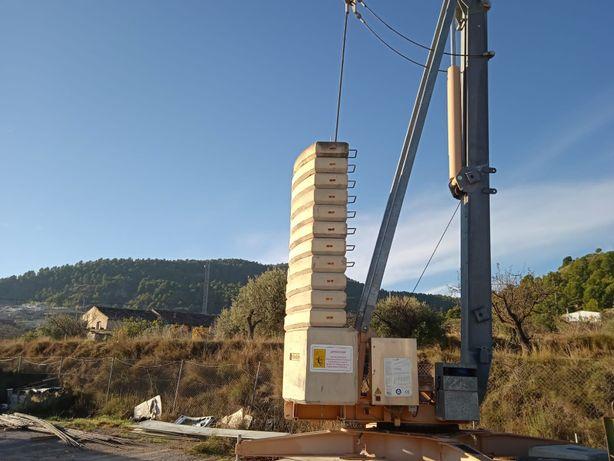 Dźwig wieżowy, żuraw budowlany, samomontujący