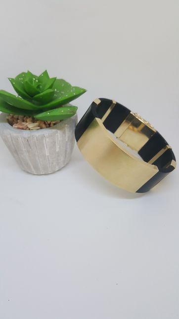 Złota bransoletka na kauczuku pr 585