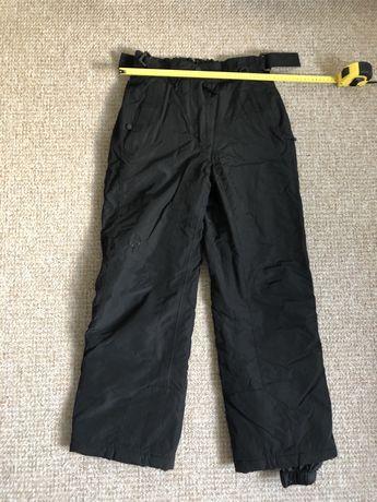 Spodnie narciarskie S 36 bdb go sport zimowe czarne