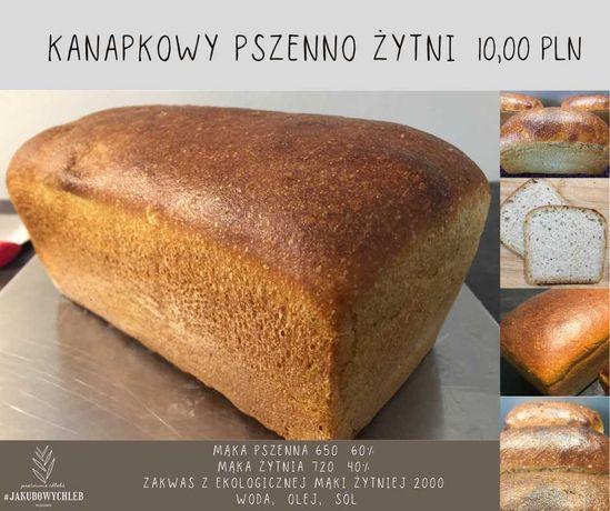 Chleb Kanapkowy pszenno żytni, na zakwasie #Jakubowychleb