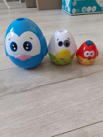 Zabawka jajka, wieża, dźwięki, światełko