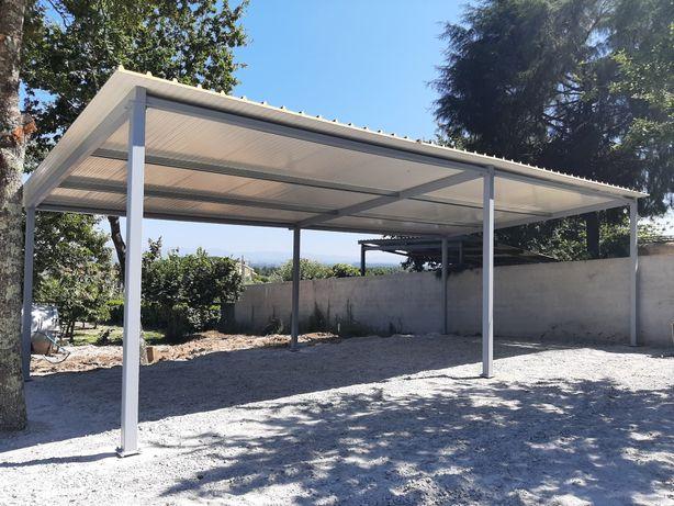 Estrutura metalica garagens arrumos